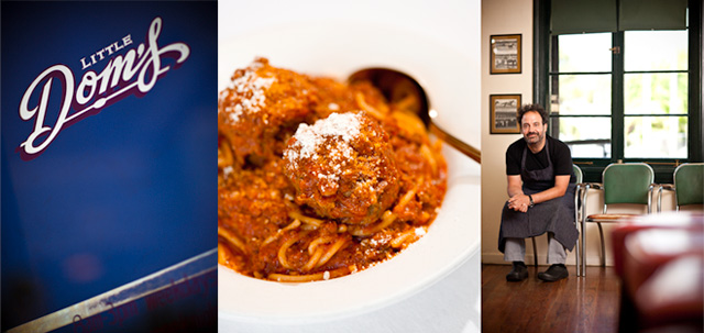 Chef Brandon Boudet with Spaghetti & Meatballs