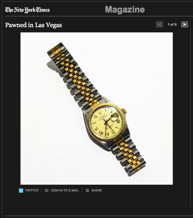 Pawned in Las Vegas - New York Times Magazine