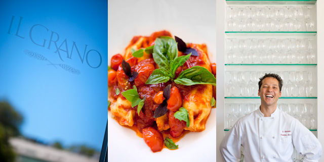 Il Grano - Chef Sal Marino - Caramelle di Burrata e Pomodorini
