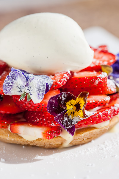 Strawberry Desert - Nikita Restaurant