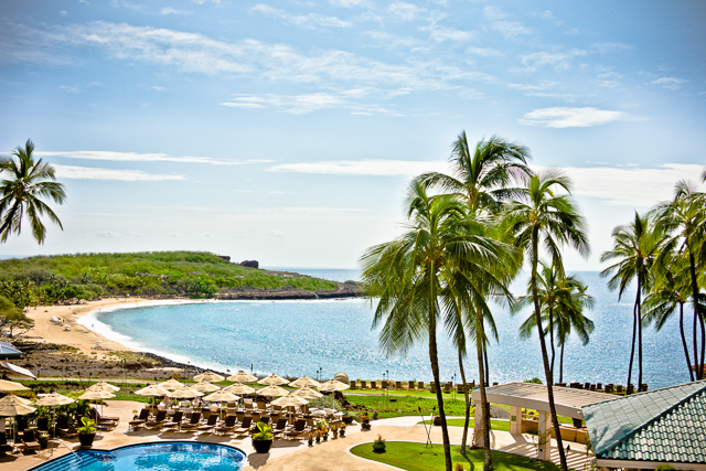 Photograph of a Hawaiian Beach Resort