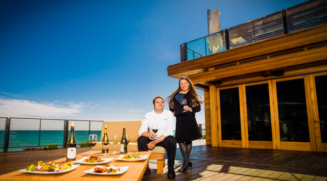 Photo of Executive Chef Salvatore Sodano and SommelierRrenee-Nicole Kubin at Nikita Malibu