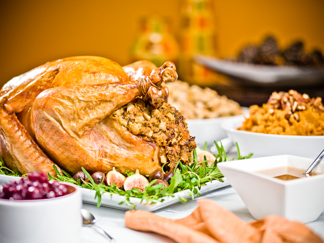 Photo of Thanksgiving Feast.