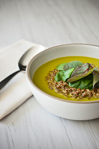 Photo of a bowl of Spinach Soup -