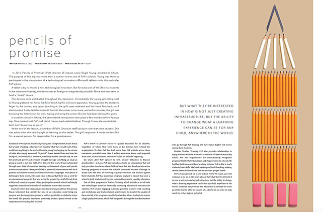 Photo of many small pencils placed in the shape of a Large Pencil
