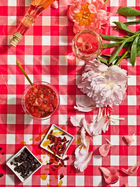 Photo of Rose Wine & Red Currants Granita