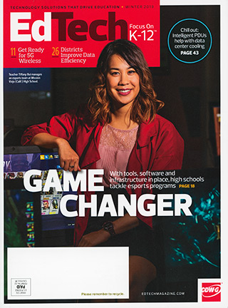 Cover Photograph of Ed Tech Magazine Winter 2019 - Photo: Dana Hursey Photography